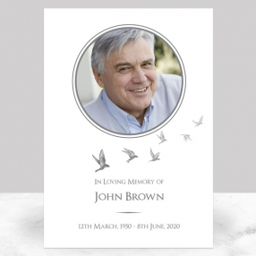 funeral-memorial-sign-grey-flying-birds