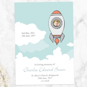 funeral-order-of-service-space-rocket-photo