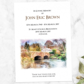 funeral-order-of-service-watercolour-bridge-view