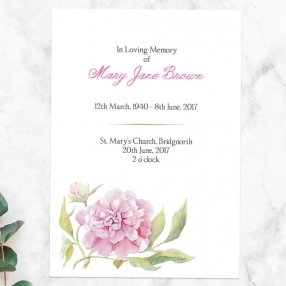 funeral-order-of-service-watercolour-peony