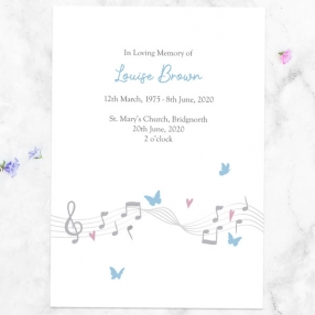 funeral-order-of-service-musical-notes-butterflies