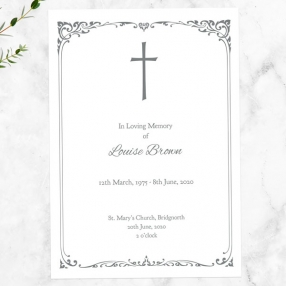 funeral-order-of-service-ornate-cross-border