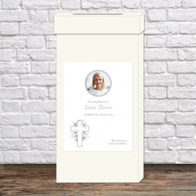 funeral-post-box-white-lilies-cross