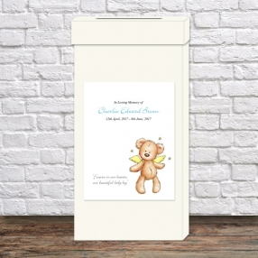 funeral-post-box-blue-teddy-bear-angel