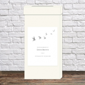 funeral-post-box-grey-flying-birds