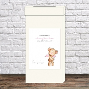 funeral-post-box-pink-teddy-bear-angel