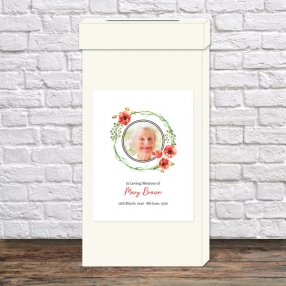 funeral-post-box-watercolour-poppy-garland