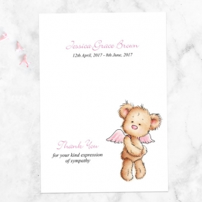 funeral-thank-you-cards-pink-teddy-bear-angel