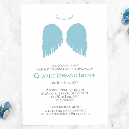 funeral-announcement-cards-blue-angel-wings