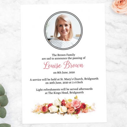 funeral-announcement-cards-traditional-roses-photo