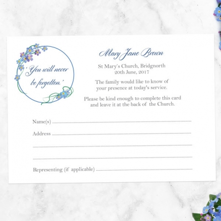 funeral-attendance-cards-forget-me-not-frame