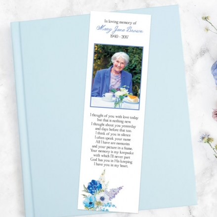 funeral-bookmark-lilac-bouquet