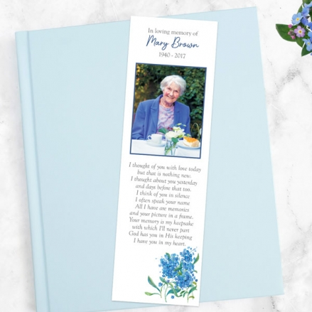 funeral-bookmark-watercolour-forget-me-nots
