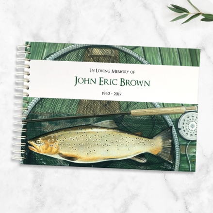 Condolence Guest Book - Fishing Tackle