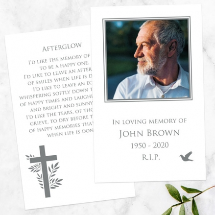 funeral-memorial-cards-bird-cross-photo-silhouette