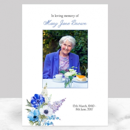 Funeral Memorial Sign - Lilac Bouquet