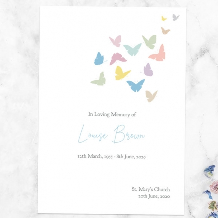 funeral-order-of-service-flying-butterflies