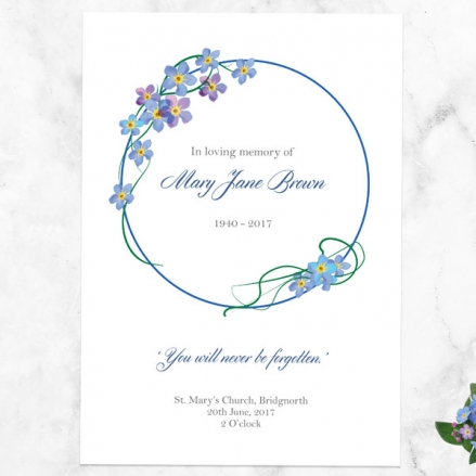 funeral-order-of-service-forget-me-not-frame