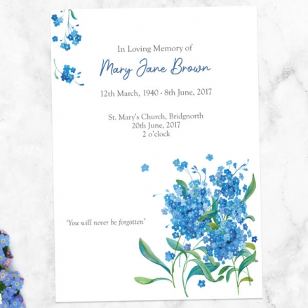 funeral-order-of-service-watercolour-forget-me-nots