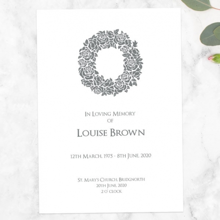funeral-order-of-service-rose-wreath