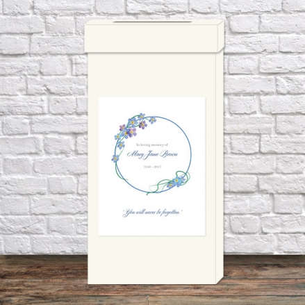 funeral-post-box-forget-me-not-frame
