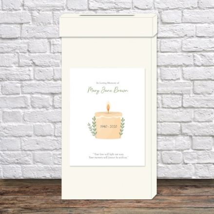funeral-post-box-in-loving-memory-candle