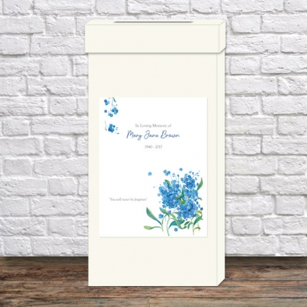 funeral-post-box-watercolour-forget-me-nots