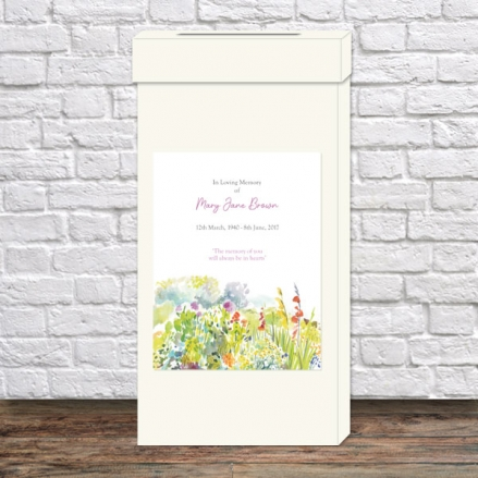 funeral-post-box-watercolour-wildflowers