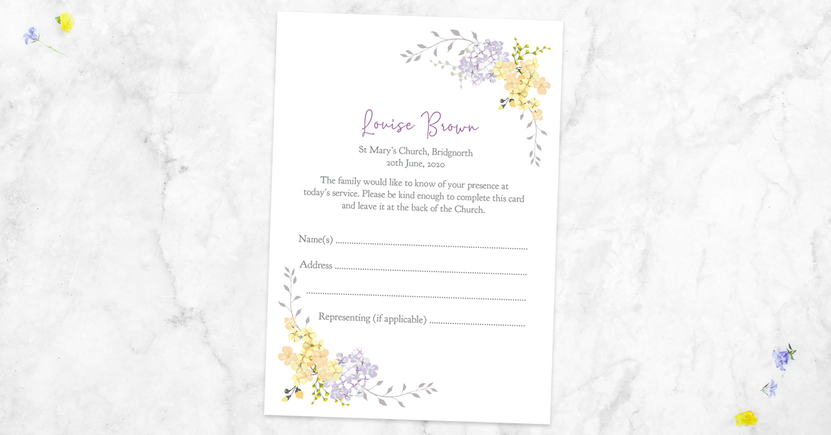 How to Use Funeral Attendance Cards
