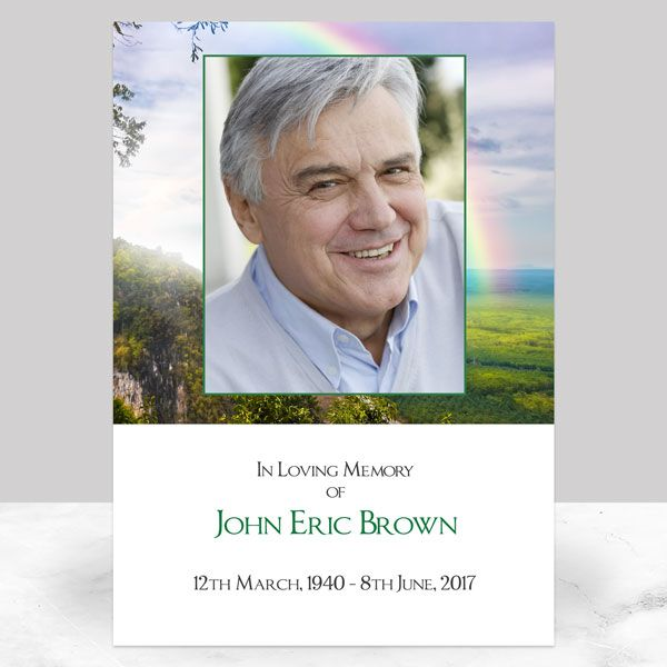 Ideas For Your Funeral Memorial Sign - Funeral Memorial Sign - Rainbow View
