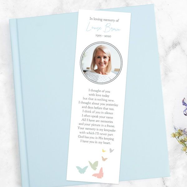 How to Have a Meaningful Funeral While Socially Distancing - Funeral Bookmark - Flying Butterflies