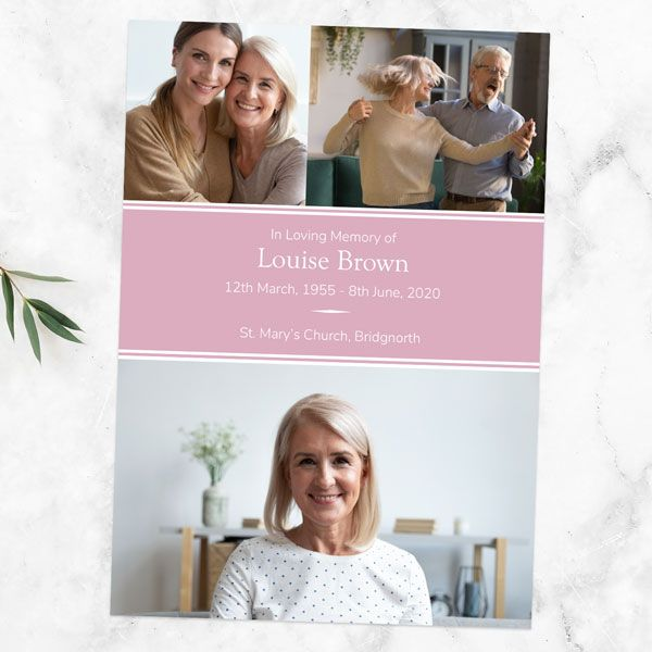 Do I Need a Funeral Order of Service? - Funeral Order of Service - Pink Photograph Memories