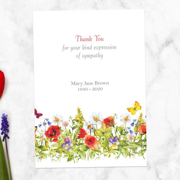 When Should I Send Funeral Thank You Cards? - Funeral Thank You Cards - Poppy Meadow