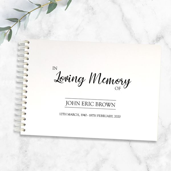 What Can I Say Instead of Sorry for Your Loss? - Condolence Guest Book - In Loving Memory Typography