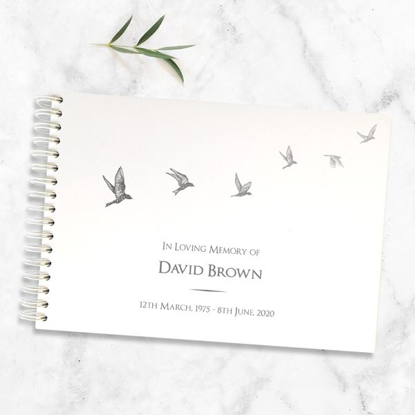 What to say in a Condolence Message? Sympathy Message Examples - Condolence Guest Book - Grey Flying Birds