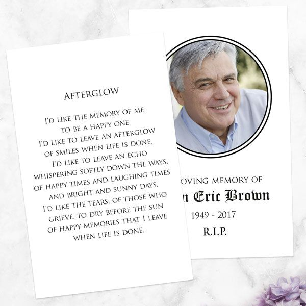 What Do You Write on a Memorial Card? - Funeral Memorial Cards - Celtic Frame